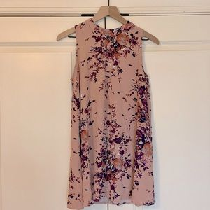 Pink & Purple Floral Sleeveless Tunic